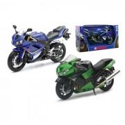 Modellino moto 1:12 yamaha yzf-r1 suzuki gsx-r1000 kawasaki zx14 in scala 1:12 431033i assortiti (no scelta)