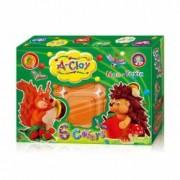 Plastilina modelaj Orange Elephant Hedgehog and Squirrel 6 culori