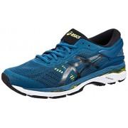 ASICS Men's Gel-Kayano 24 Ink Blue/Black/Safety Yellow Running Shoes - 11 UK/India (46.5 EU)(12 US)