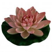 Max Plastový leknín růžový - Leknínový květ velký 18cm