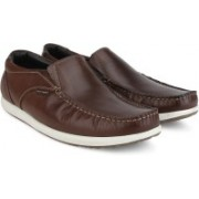 Hush Puppies By Bata BRAD SLIP ON Loafers For Men(Brown)