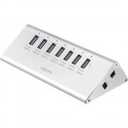 7-portni USB 2.0 hub UA0225 LogiLink srebrna