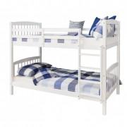 Emeletes, kinyitható ágy , fehér, RAVELO