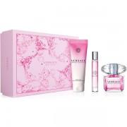 Versace Bright Crystal Комплект (EDT 90ml + EDT Roll On 10ml + SG 150ml) за Жени