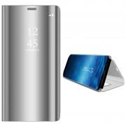 Samsung Galaxy S9 Luxury Mirror View Flip Case - Silver