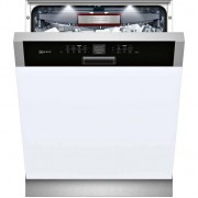 NEFF N70 S416T80S0G Semi Integrated Standard Dishwasher - Black Control Panel with Fixed Door Fixing Kit - A++ Rated