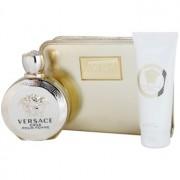 Versace Eros Pour Femme coffret V. Eau de Parfum 100 ml + leite corporal 100 ml + bolsinha