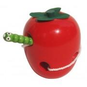 Montessori The Caterpillar Eats The Apple Wooden Puzzle Jouets Éducatifs Jouets Éducatifs Pour Enfants Préscolaires