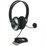 Fejhallgató, mikrofonnal, vezetékes, MANHATTAN 175555 (MAFH175555)