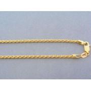 Zlatá retiazka točený vzor žlté zlato DR42741Z