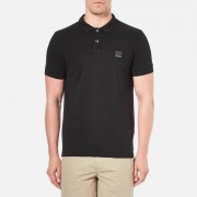BOSS Orange Men's Pascha Slim Block Branded Polo Shirt - Black - XL - Black
