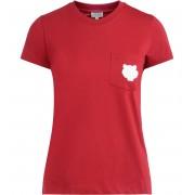 Kenzo T shirt Kenzo Tigre in cotone rosso con tasca applicata con logo