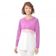 FILA UVエレガントフラワーチュニックTシャツ【QVC】40代・50代レディースファッション
