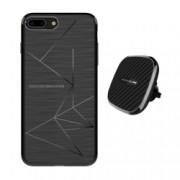 Set Husa Magnetica Nillkin Magic Case Apple iPhone 8 Plus si Incarcator auto Wireless Magnetic Nillkin II Tip B