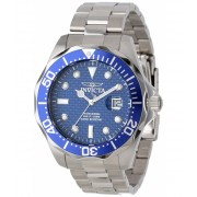 Invicta Watches Invicta Men's 12563 Pro Diver Blue Carbon Fiber Dial Stainless Steel Watch BlueSilver