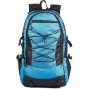 Surya bags industries Surya Polyester 60 Liter Black & Airport Blue Travel Bag Backpacking Backpack for Outdoor Hiking Trekking Camping Rucksack Rucksack - 60 L(Black)