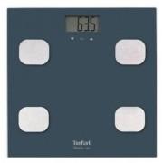Cantar de baie Tefal Body Up BM2520V0, 150 kg, LCD, Sticla, 8 memorii, Indice de masa corporala (Albastru)