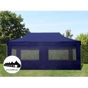 3x6m összecsukható pavilon ablakos Alutec Kék (Economy Alutec)