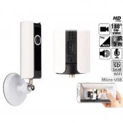 7links IP-Panorama-Überwachungskamera, 180° Bildwinkel, Nachtsicht, microSD