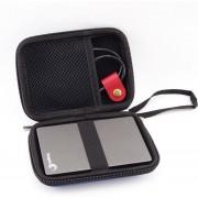 Harde Schijf Hard Cover Tas - Externe HDD / SDD Hoes - Harddisk Beschermhoes Carry Case - 2.5 Inch Zwart