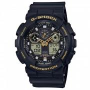 casio g-shock GA-100GBX-1A9 serie estandar reloj de pulsera - negro + oro