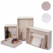 6er Set Holzbox HWC-C20, Dekokiste Aufbewahrung Holzkiste, Shabby-Look Vintage ~ Variantenangebot