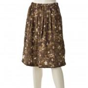 Zeffirino 花柄ピーチ起毛スカート【QVC】40代・50代レディースファッション