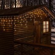 Luci Da Esterno Stalattite 20,16 x 0,6 metri, 480 LED Bianco caldo, 8 giochi di luce