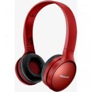 Casti Bluetooth over head Panasonic RP-HF410BE-R, sunet de inalta calitate neodimium 30 mm, autonomie 24 ore, design pliabil cu mecanism pivotant, rosu