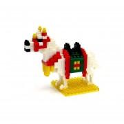Nanoblock Caballo Blanco De Batalla-Multicolor