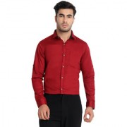 Yonex Fashion Casual Men's Shirts | Formal Shirts For Men's | Shirts For Men |Formal Shirts |Men's Shirts | Full Sleeve Shirts |Red (Small)