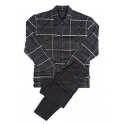 Hom Хлопковая мужская пижама темно-серого цвета в клетку HOM Carry 04218cS9