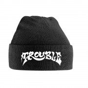 Trouble Knitted Ski Hat Logo Black