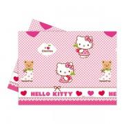 Hello Kitty Hearts műanyag asztalterítő