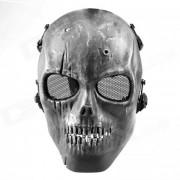 M01 CS Mascara Esqueleto Humano - Negro Plateado