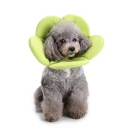 Soft Sponge Flower Shape Dog Cat Collar Pet Elizabeth Circle Wound Healing Medical Anti-Bite Collar