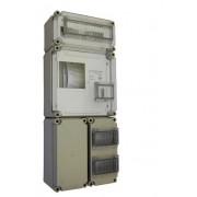 Egyfázisú fogyasztásmérőhöz 2db alsó 150x300x170mm kábelfogadó / elmenő PVT 3030 FO 2x6 ÁK - F 12 ÁK