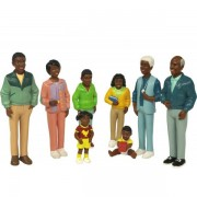Figurine familie africana Miniland, 8 piese