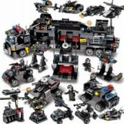 Set de constructie pentru copii model statie de politie 832 piese negru