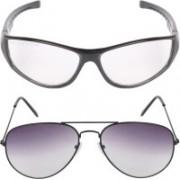 Criba Wayfarer, Retro Square Sunglasses(Clear, Grey)