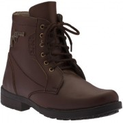 Footista Mens Brown Lace-up Lace-up Boot