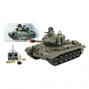 Azimporter Snow Leopard With Smoke And Sound Military Fighting Battle Tank Toy Vehicle