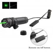 Kit tactic cu laser verde 5mw cu inele de montare, compatibil picatinny