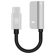 Hat Prince HC-13 USB-C / 3.5mm %26 Type-C Audio Adapter - Silver