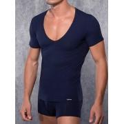 Doreanse Мужская фиолетовая футболка с широким воротником Doreanse Macho Style 2820c56