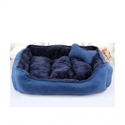 JKDFGH Soft Sofá Gato Perro Caliente Cesta Acogedor Colchón De La Cama Lavable, Transpirable Multicolor (Color : Blue, Size : M)