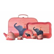 Set metalic ceai Elefant in valiza Egmont Toys