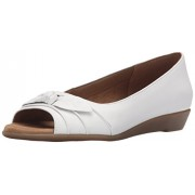 Aerosoles Women s Atta Girl Ballet Flat White Leather 12 B(M) US