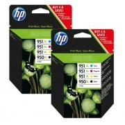 HP Origineel HP Multipack zwart / cyan / magenta / geel 2x C2P43AE 950 XL + 951 XL Promo-Pack