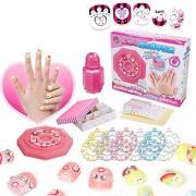Ocamo Girl Nail Stickers DIY Kids Toys Waterproof Manicure Sticker Nail Make up Set Girl's Jewelry Birthday Gift Toys Magic Nail Set